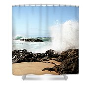 Oahu North Shore Breaker Shower Curtain
