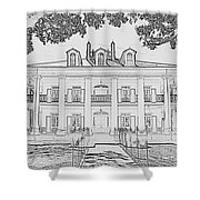 Oak Alley Sketch Shower Curtain