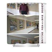 Oakwood Heritage Gallery Exhibit Shower Curtain
