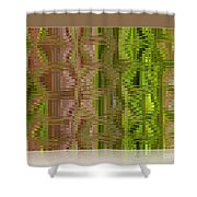 Oasis In The Desert - Abstract Art Shower Curtain