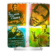 Obama Squared Shower Curtain