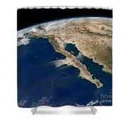 Oblique View Of Baja California Shower Curtain