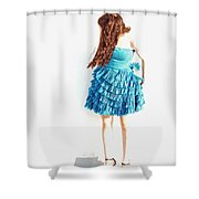 Obscured Shower Curtain