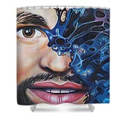 Obstruction Shower Curtain
