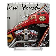 Occ Fdny Motorcycle Shower Curtain