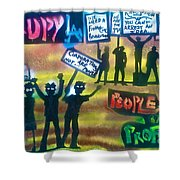 Occupiers Unite Shower Curtain