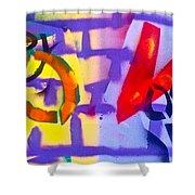 Occupy Graffiti Love Shower Curtain