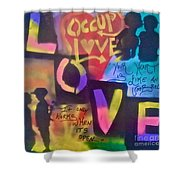 Occupy Love Open Heart Shower Curtain
