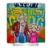 Occupy The Young And Old Shower Curtain