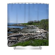 Ocean Beach Vancouver Island Shower Curtain