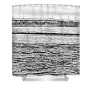 Ocean City Bridge Shower Curtain