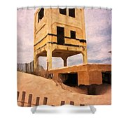 Ocean City Fishing Pier Remnants Shower Curtain