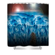 Ocean Falling Into Abyss Shower Curtain
