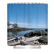 Ocean Front Living Shower Curtain