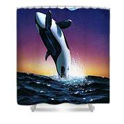 Ocean Leap Shower Curtain