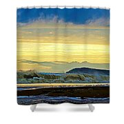 Ocean Power Series 3 Shower Curtain