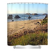Bandon Oregon Shorelines Shower Curtain