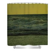 Ocean Waves Coming In Near Sunset Shower Curtain