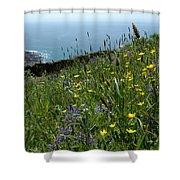 Ocean Wildflowers Shower Curtain