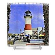 Oceanside Lighthouse Shower Curtain