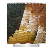 Ochre Quarry Of Roussillon, Provence Shower Curtain