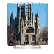 Octagon Tower  Shower Curtain