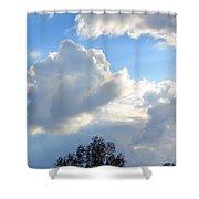 October's Cloud Illumination 2012 Shower Curtain