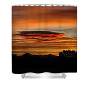 October's Colorful Sunrise 2 Shower Curtain