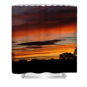 October's Colorful Sunrise Shower Curtain