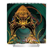 Of Crowns Masks And Things Yet Unseen Shower Curtain