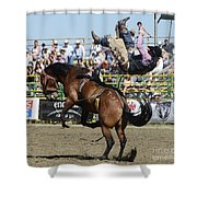 Rodeo Off In A Flash Shower Curtain