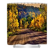 Off The Beaten Path Shower Curtain