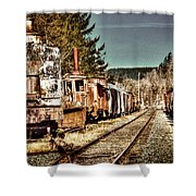 Off Track II Shower Curtain