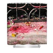 Offering Of Floweres Shower Curtain
