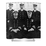 Officers Of The Titanic, 1912 Shower Curtain