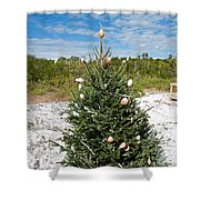 Oh Christmas Tree Florida Style Shower Curtain