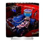 Oh So Simple Sanitary Truck Engine Shower Curtain