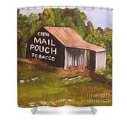 Ohio Mail Pouch Barn Shower Curtain