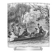 Ohio River: Emigrants Shower Curtain
