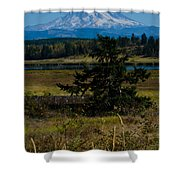 Ohop Valley Rainier Shower Curtain