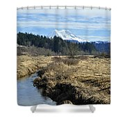 Ohop Valley View Of Rainier Shower Curtain