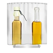 Oil And Vinegar Bottles Shower Curtain by Matthias Hauser