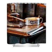 Oil Can And Wrench Shower Curtain