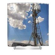 Oil Derrick I Shower Curtain