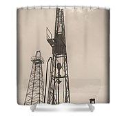 Oil Derrick V Shower Curtain