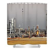 Oil Refinery Shower Curtain