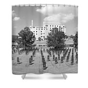 Oklahoma City National Memorial Black And White Shower Curtain