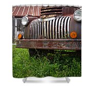 Old Abandoned Pickup Truck Shower Curtain