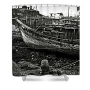 Old Abandoned Ship Shower Curtain