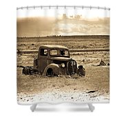 Old Abanoded Truck Fade Shower Curtain